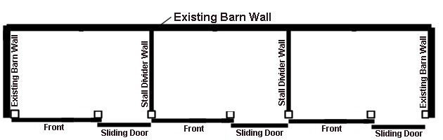 building horse stalls with existing barn walls
